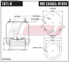CASALS B1034 - SUS.NEUMATICA SAF-ROR-LECITRAILER